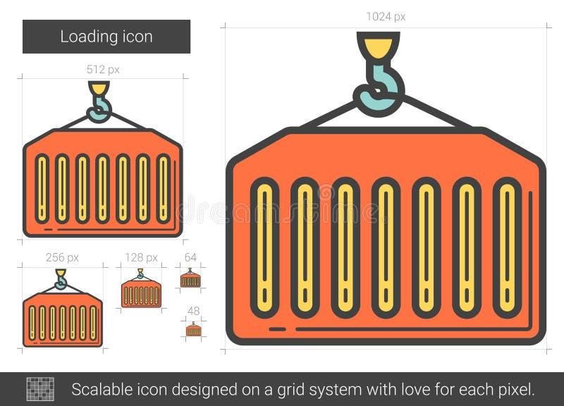 Linha de carga ícone ilustração royalty free
