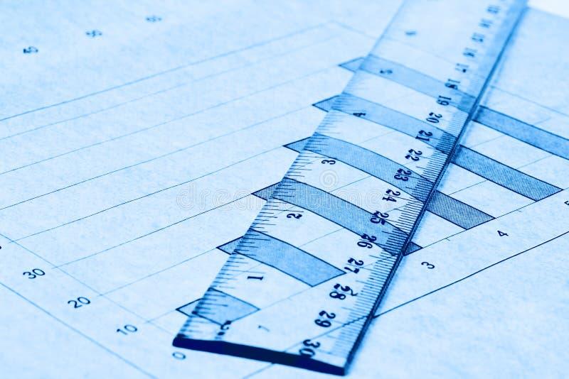 Linha de coluna escala do diagrama imagem de stock royalty free