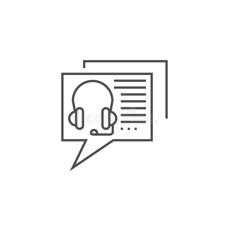 Linha de consulta em linha ?cone ilustração do vetor