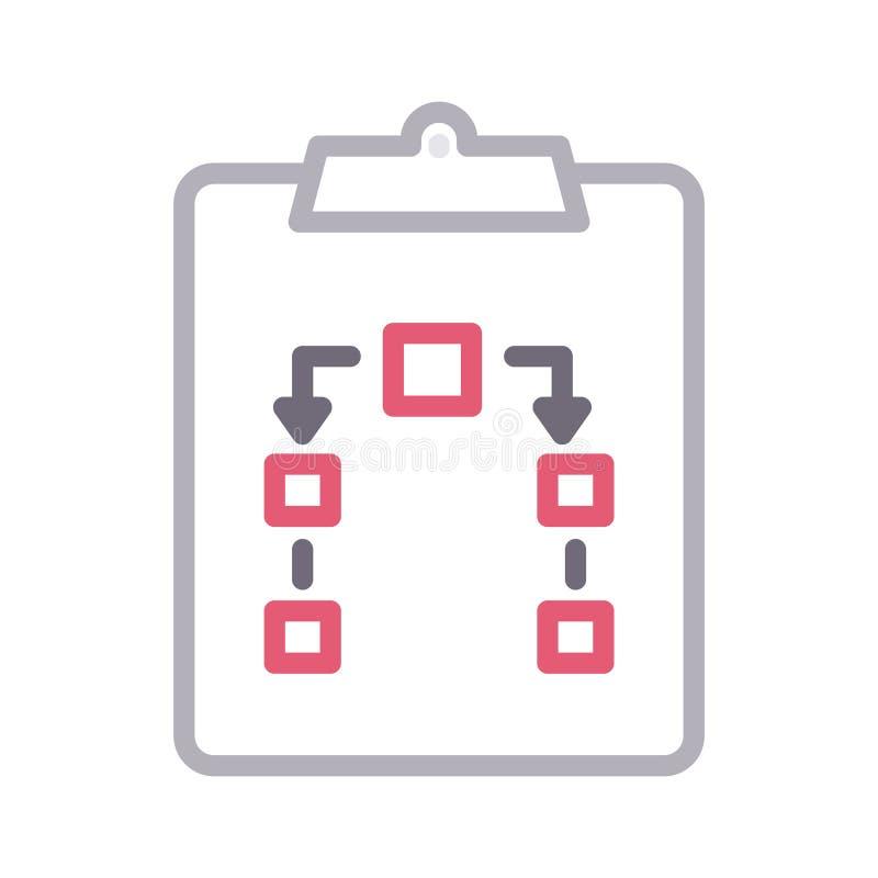 Linha de cor ícone da prancheta do vetor ilustração stock