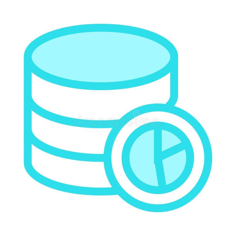 Linha de cor ícone do gráfico do base de dados ilustração stock
