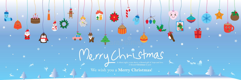 Linha de cor bandeira do dia de Natal do elemento do cair ilustração royalty free