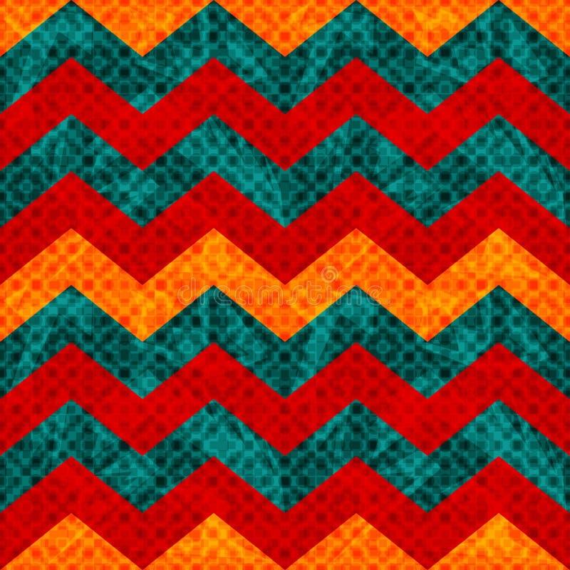 Linha de cor bonita ilustração sem emenda geométrica do vetor do teste padrão do sumário ilustração stock