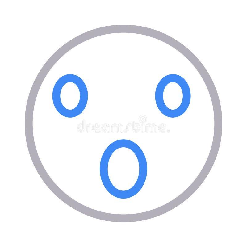 Linha de cor fina ícone da cara bonito do vetor ilustração do vetor