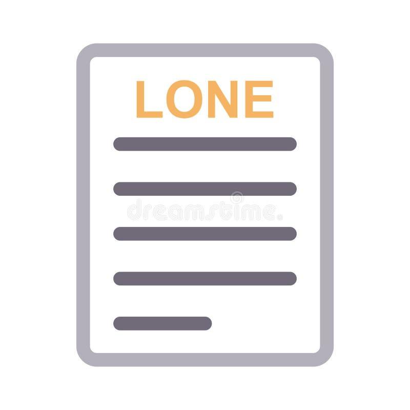 Linha de cor fina ícone do documento solitário do vetor ilustração royalty free