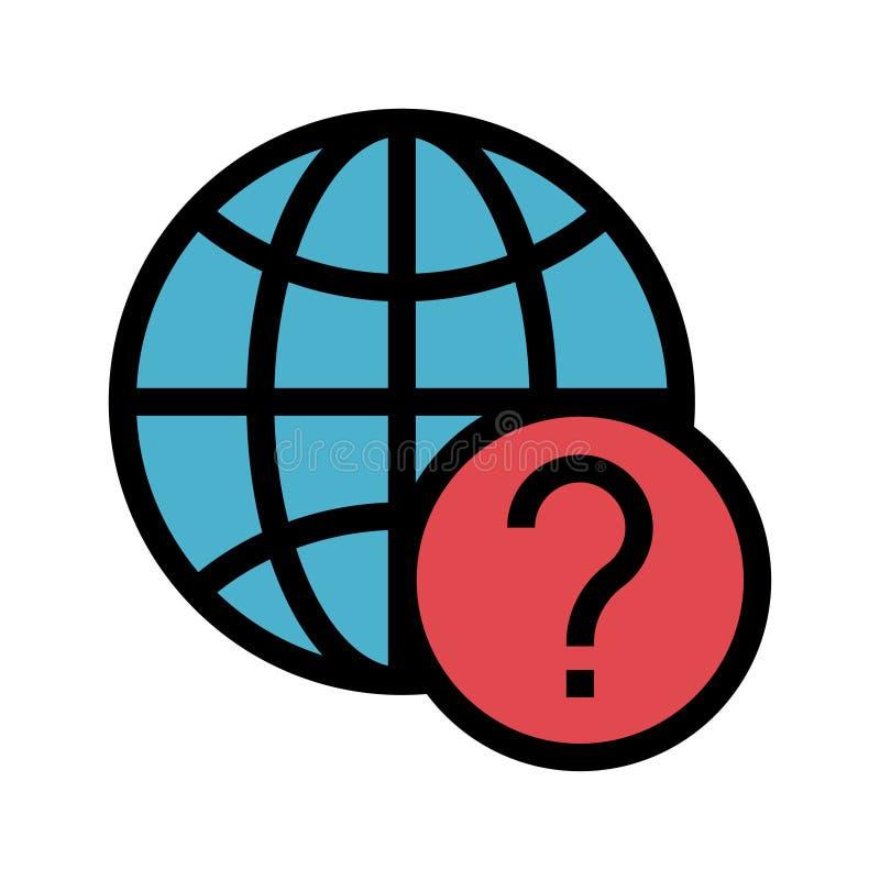 Linha de cor global ícone da ajuda ilustração royalty free