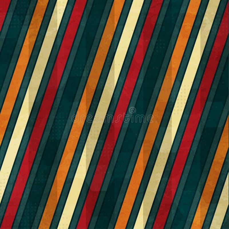Linha de cor teste padrão sem emenda ilustração stock