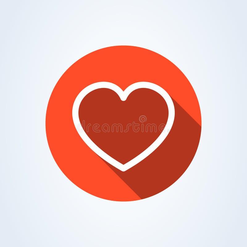 Linha de coração moderna estilo liso ?cone da ilustra??o do vetor isolado no fundo branco ilustração royalty free
