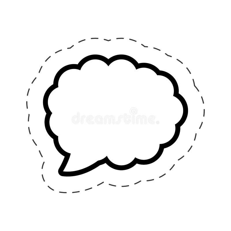 linha de corte da nuvem do discurso da bolha ilustração stock