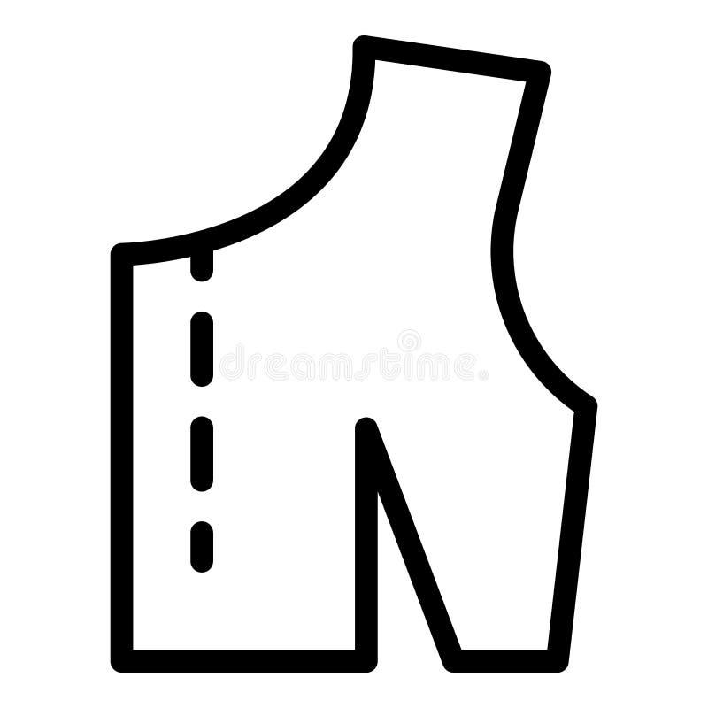 Linha de corte no ícone da tela, estilo do esboço ilustração stock