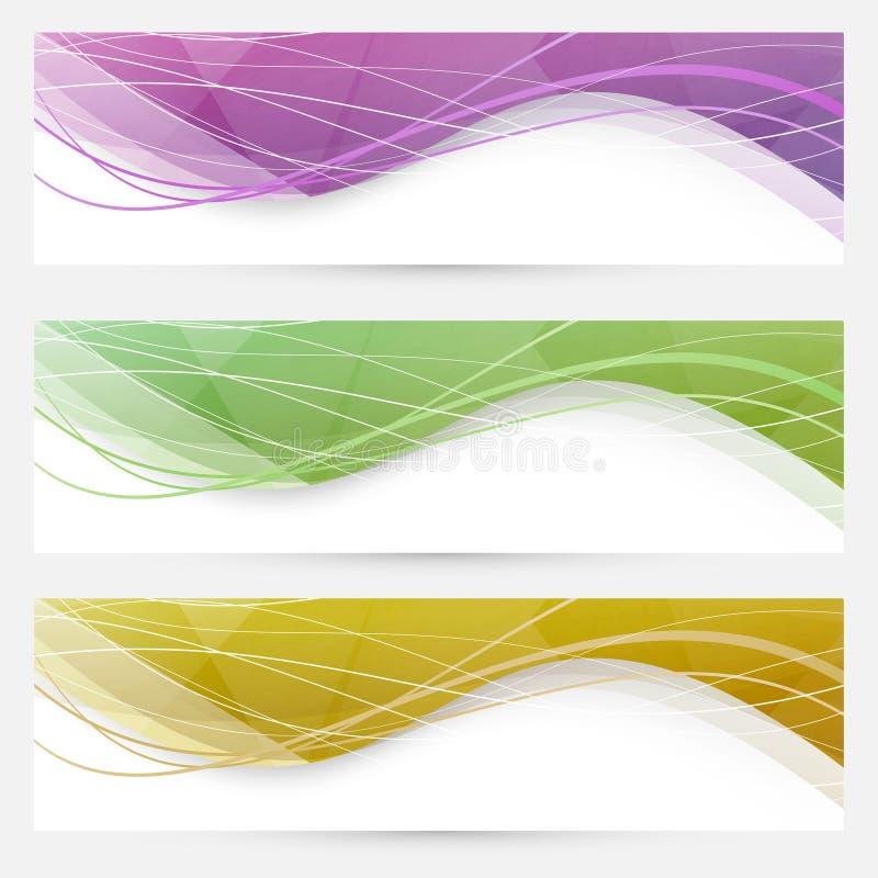 Linha de cristal abstrata encabeçamento da velocidade da onda do Web site ilustração stock