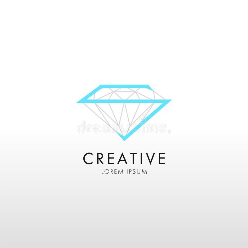 Linha de cristal logotipo do projeto liso na moda ilustração do vetor