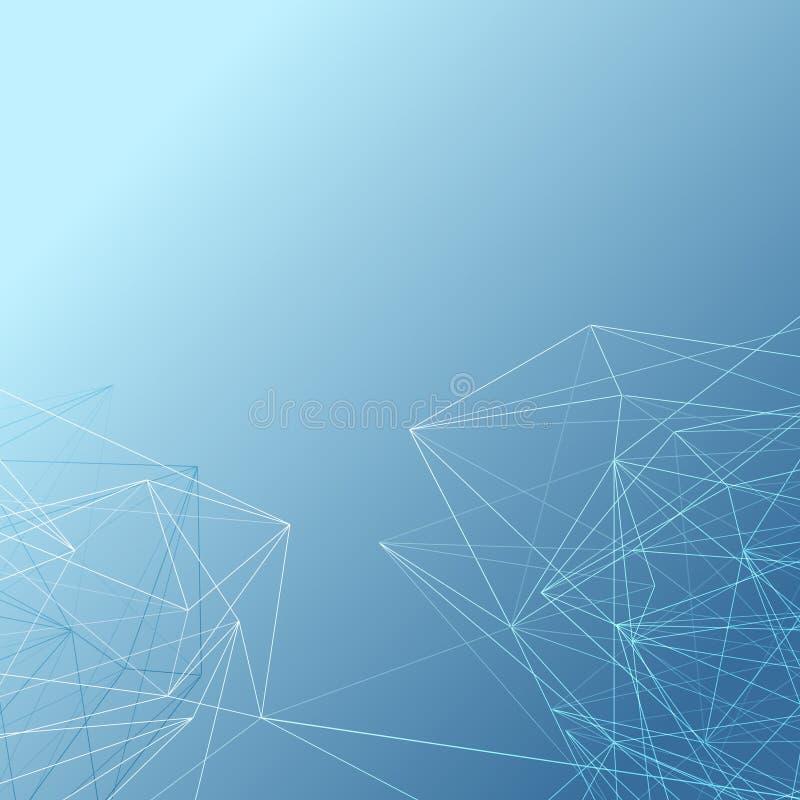 Linha de cristal moderna abstrata fundo do teste padrão ilustração royalty free