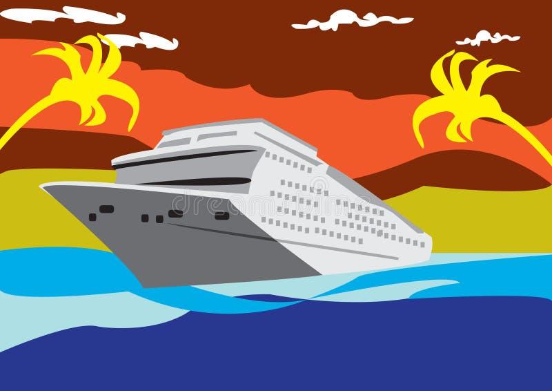 Linha de cruzamento ilustração do vetor