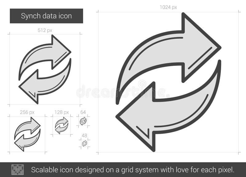 Linha de dados ícone de Synch ilustração do vetor