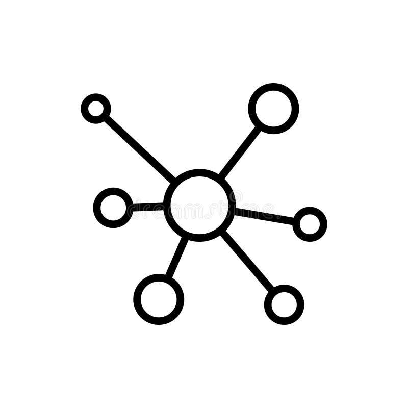 Linha de dados moderna ícone ilustração royalty free