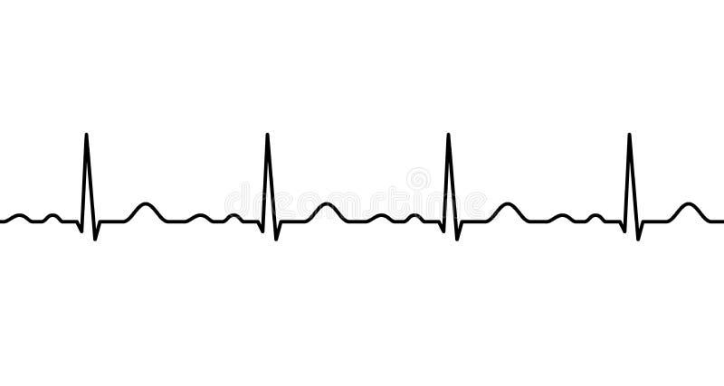 Linha de Ekg heartbeat ilustração stock