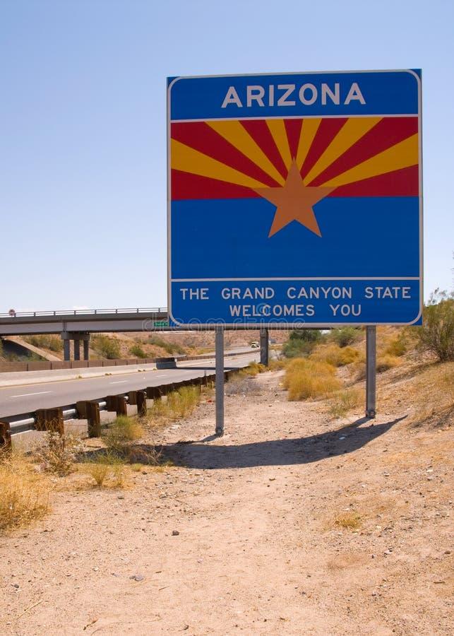 Linha de estado do Arizona foto de stock