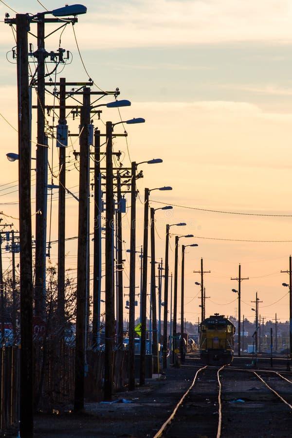 Linha de estrada de ferro fotografia de stock royalty free