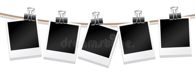 Linha de fotografias ilustração do vetor