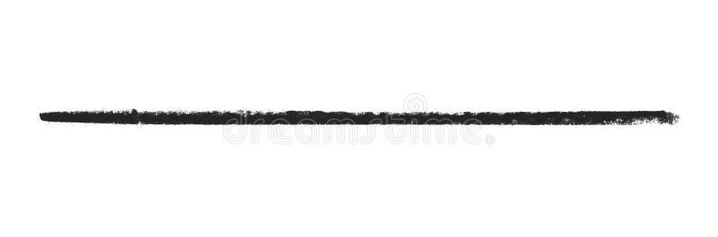 Linha de giz preta pintado à mão ilustração stock