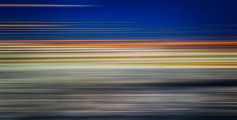 Linha de luz horizontal abstrata borrão da velocidade de movimento ilustração royalty free