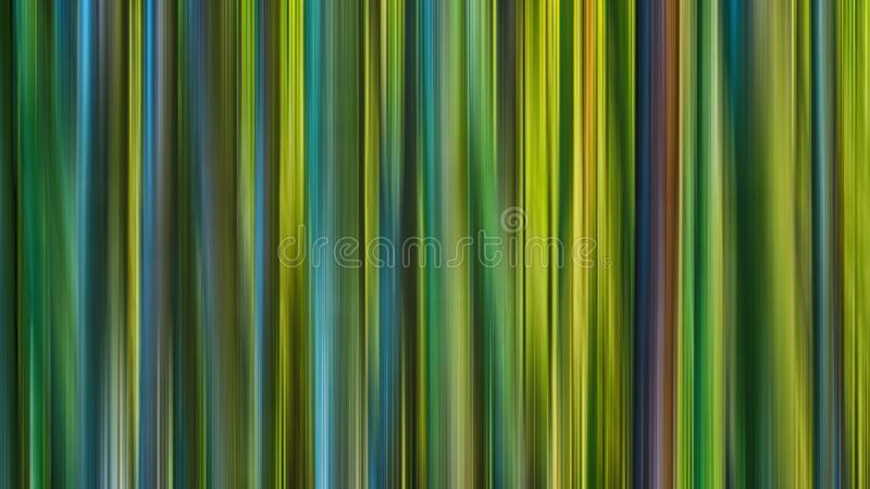 Linha de luzes abstrata borrão do greenl do vertica de movimento ilustração stock