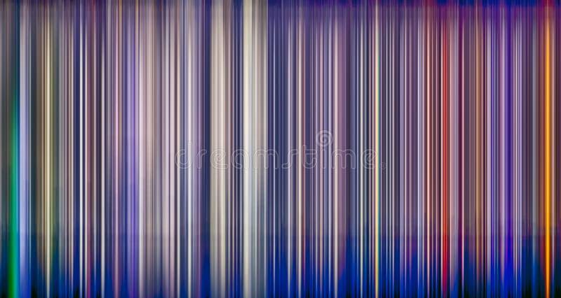 Linha de luzes vertical abstrata borrão de movimento ilustração do vetor