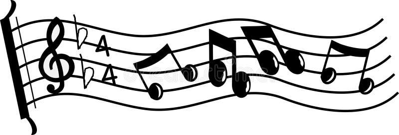 Linha de música ilustração do vetor