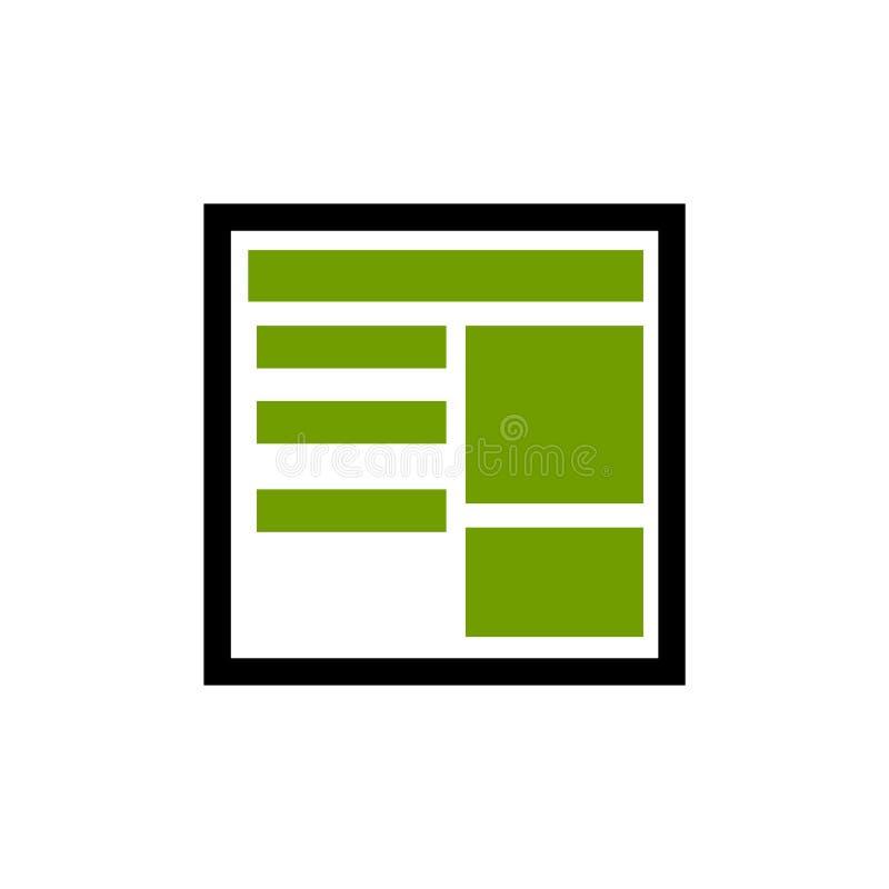 Linha de papel ícone da notícia, estilo do ícone do esboço, ícone linear do pictograma ilustração do vetor