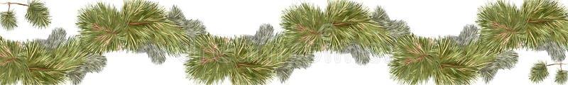 Linha de pinheiro bandeira imagem de stock royalty free