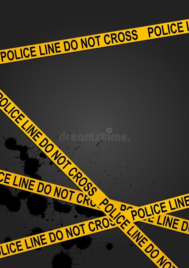 Linha de polícia ilustração royalty free