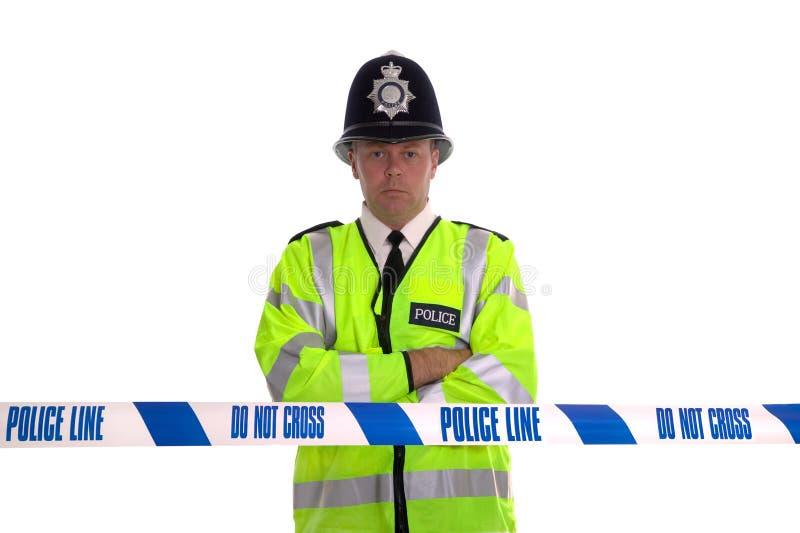 Linha de polícia imagem de stock royalty free