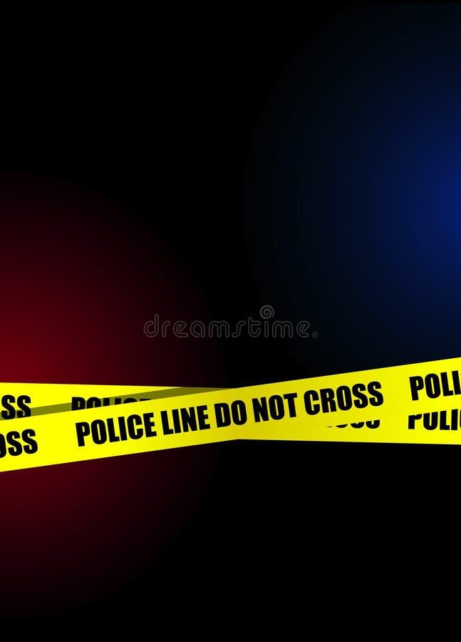A linha de polícia não cruza o fundo ilustração stock