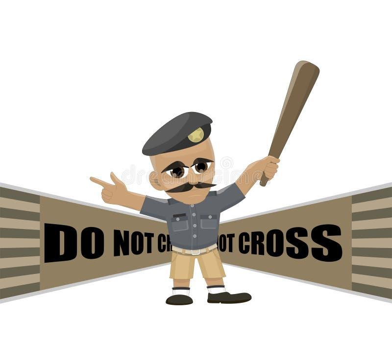 A linha de polícia não se cruza ilustração do vetor