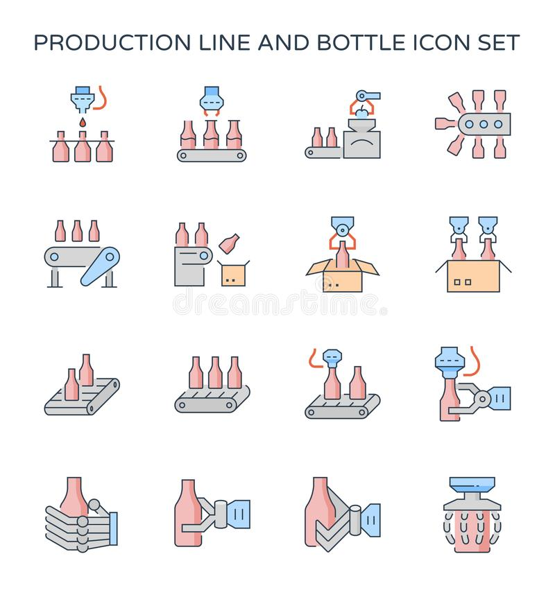 Linha de produção ícone ilustração stock