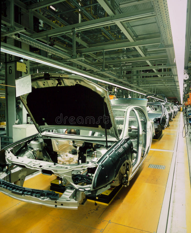 Linha de produção do carro foto de stock royalty free