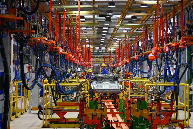 Linha de produção do carro fotografia de stock royalty free