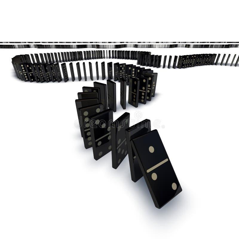 Linha de queda dos dominós ilustração royalty free