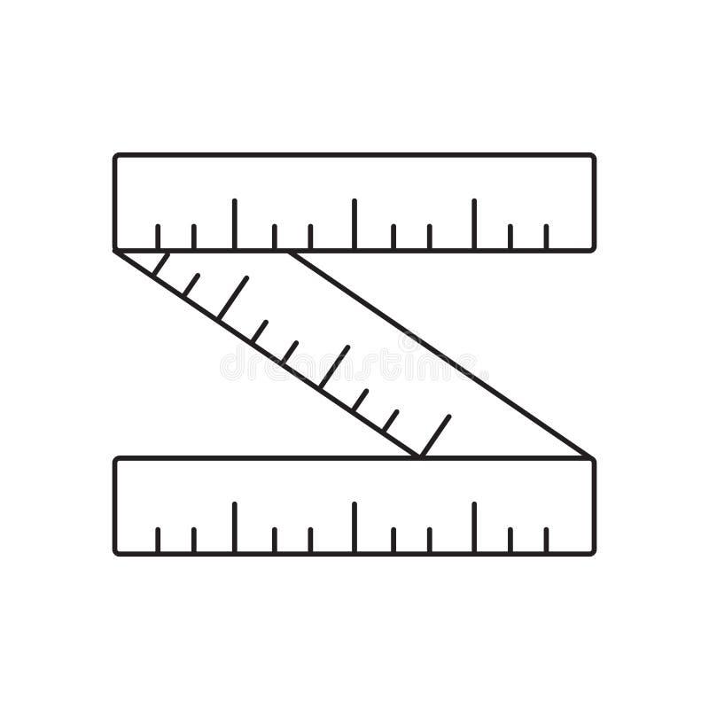 Linha de régua ícone ilustração royalty free