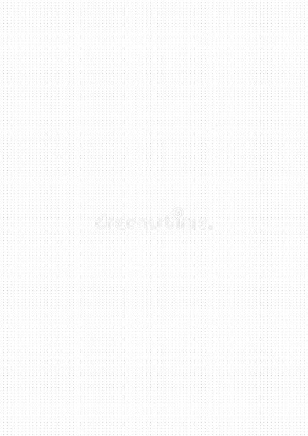 Linha de régua guia do desenho do milímetro do ponto do traço do vetor do fundo do papel de gráfico ilustração stock