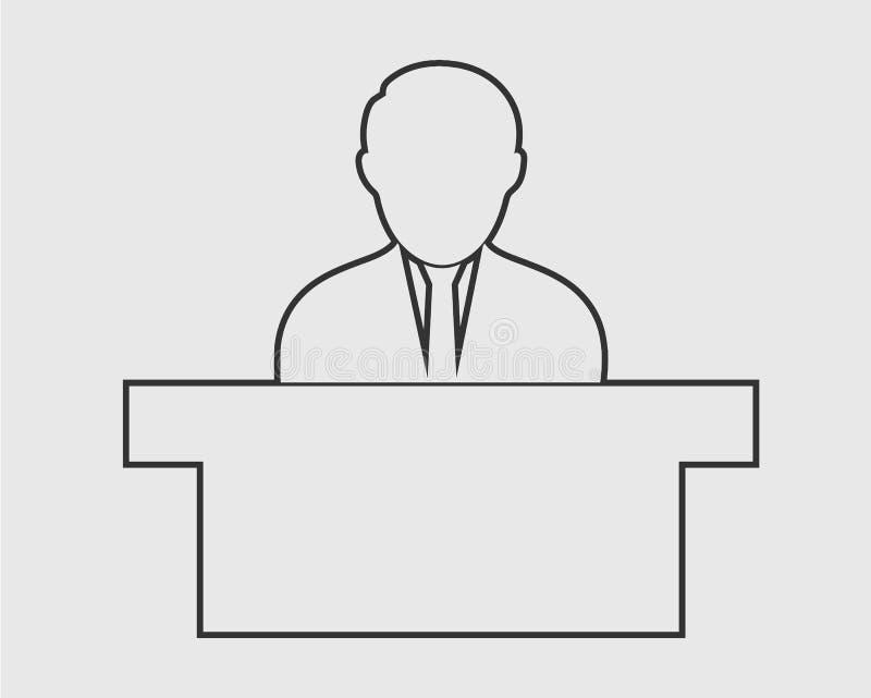 Linha de recepção ícone ilustração stock