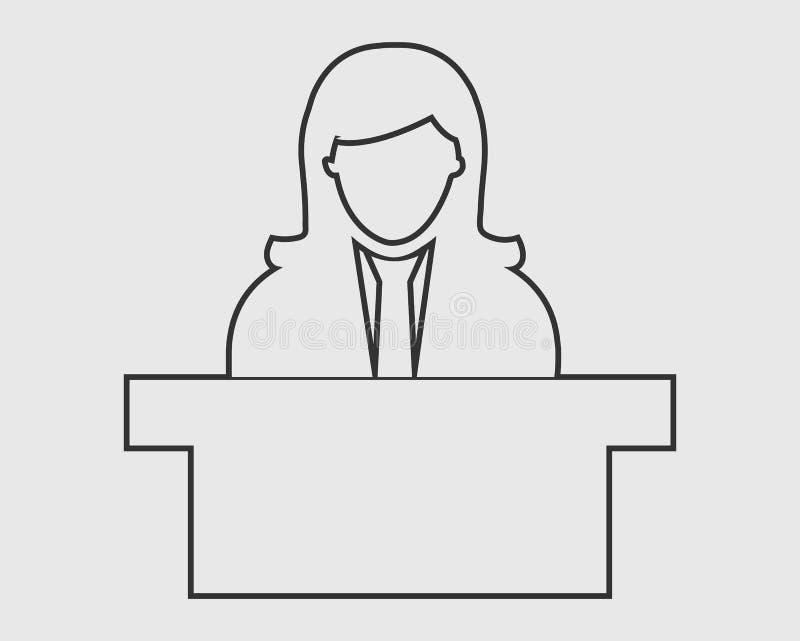 Linha de recepção ícone ilustração do vetor