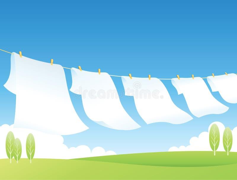 Linha de roupa ilustração stock
