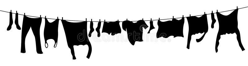 Linha de roupa ilustração do vetor