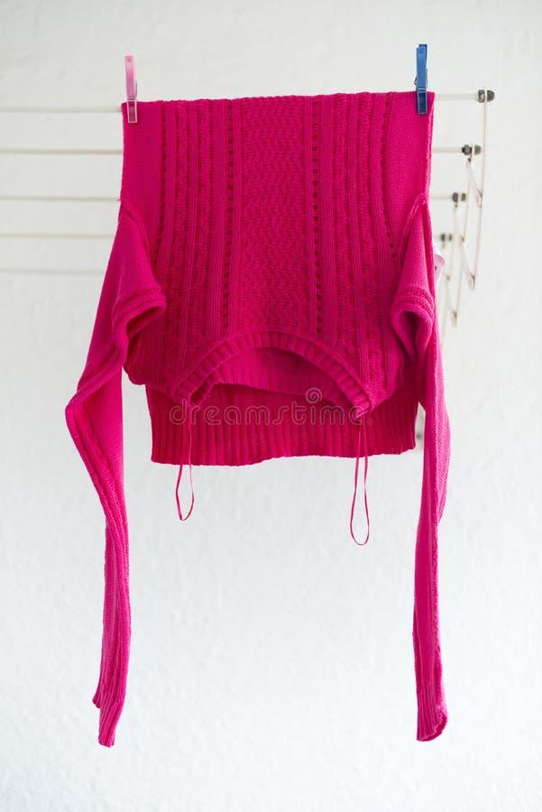 Linha de roupa foto de stock
