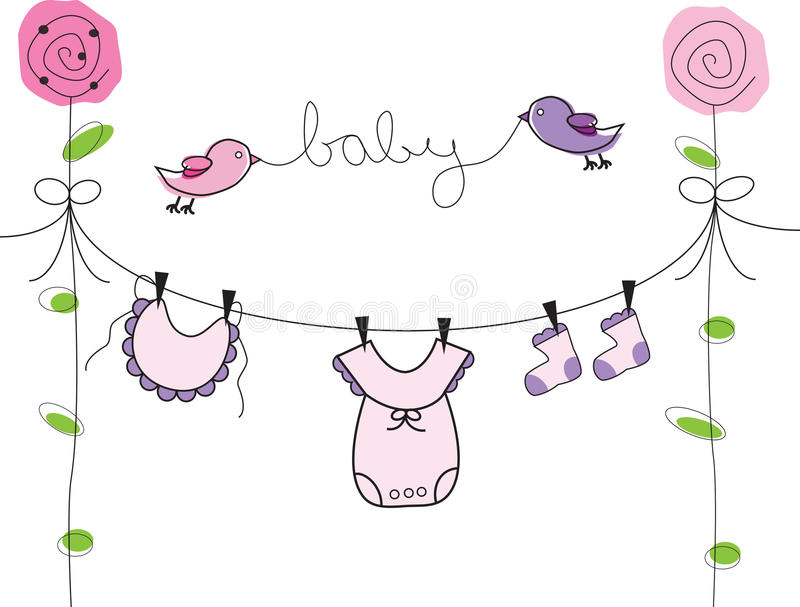 Linha de roupa do bebê ilustração royalty free