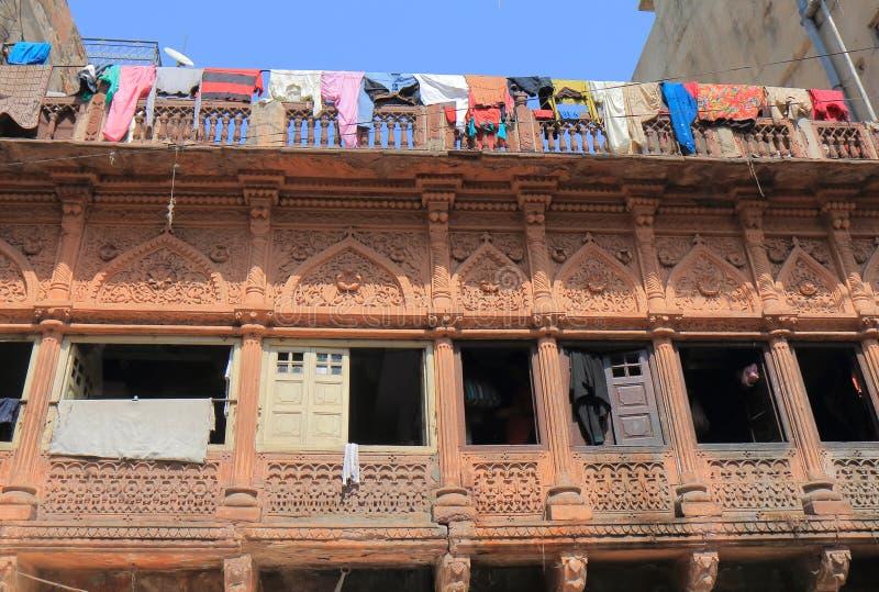 Linha de roupa de lavagem Índia da lavanderia de Jodhpur foto de stock royalty free