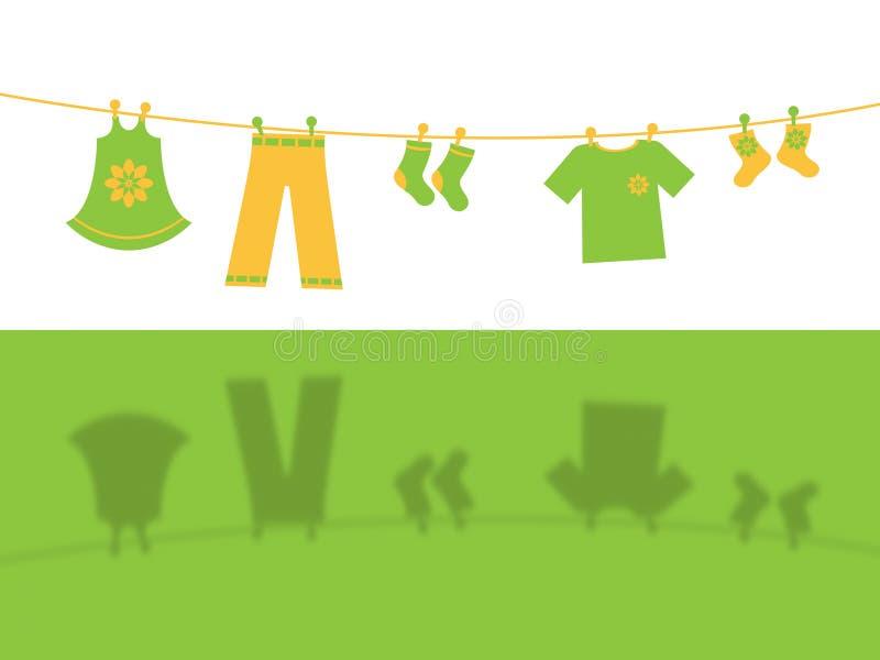 A linha de roupa significa Clothespeg Hang And Apparel ilustração royalty free