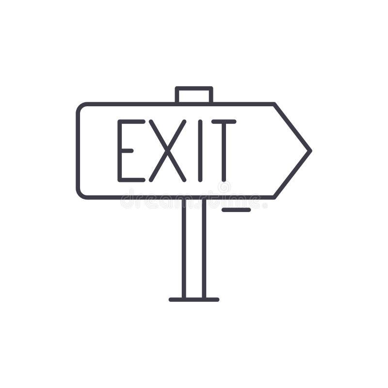 Linha de saída conceito do ícone Ilustração linear do vetor da saída, símbolo, sinal ilustração do vetor